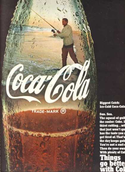 Biggest catch: Ice-cold Coca-Cola 1968