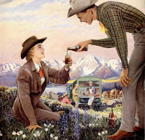 Coca-Cola chuckwagon 1958
