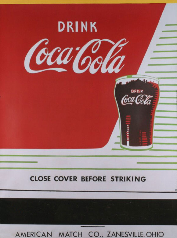 Coca-Cola: Close Cover Before Striking by Andy Warhol 1962