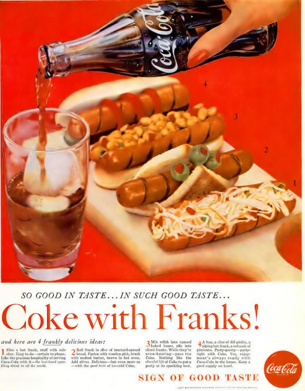 Coke with Franks! 1959