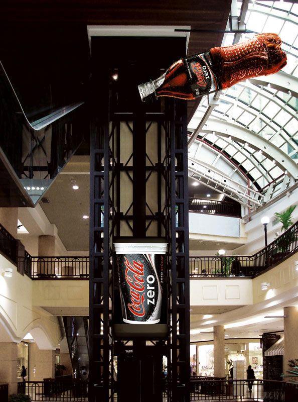 Smart and creative Coca-Cola Zero elevator advertising, 2006