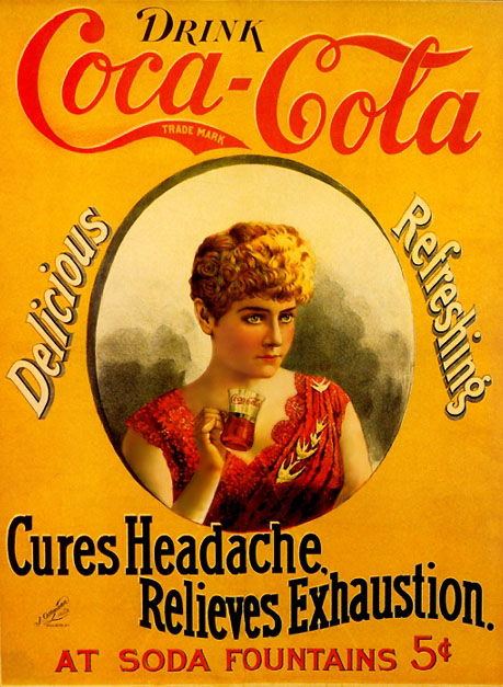 Cures Headache, Relieves Exhaustion (with Hilda Clark) 1890s