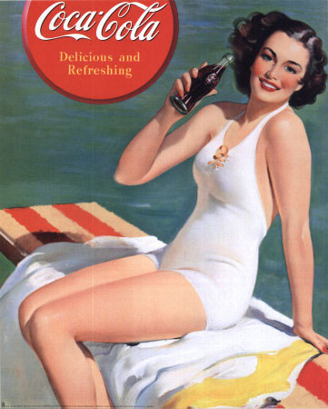 """Delicious and refreshing"" by Gil Elvgren"