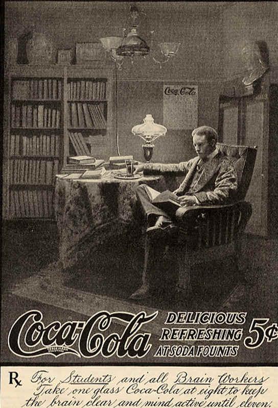 Coca-Cola delicious refreshing at soda founts 1905