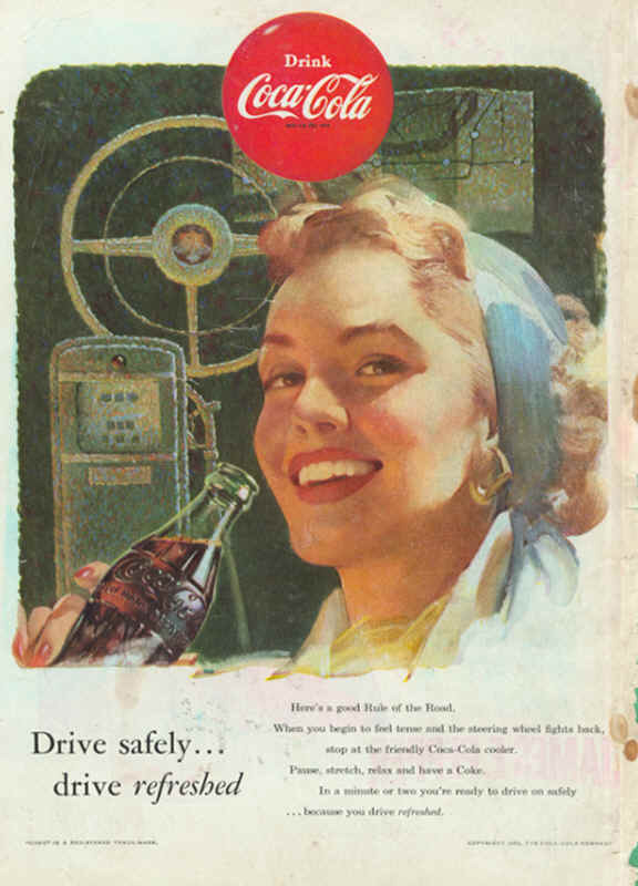 Drive safely... drive refreshed 1953