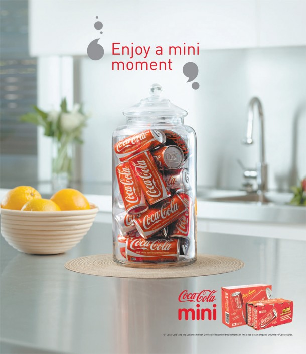 "Coca-Cola mini cans ""Enjoy a mini moment"", 2009"