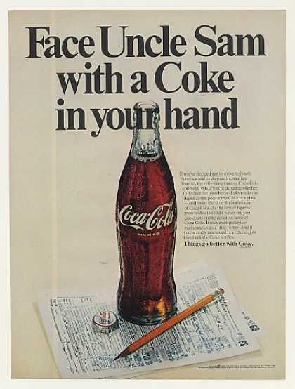 Face Uncle Sam with a Coke in your hand 1969