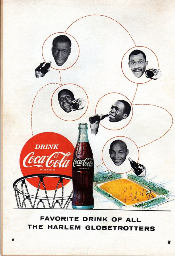 Favorite drink of all the Harlem globetrotters 1968