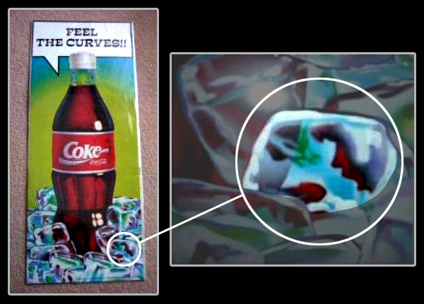 "Coca-Cola poster ""Feel The Curves!!"" 1995"