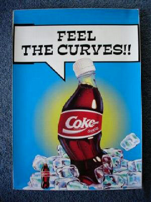 "Coca-Cola ""Feel The Curves"" another poster 1995"