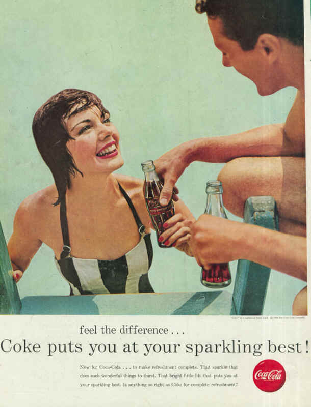 Coca-Cola feel the difference 1956