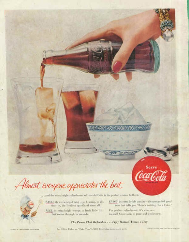 Coca-Cola fifty million times a day 1955