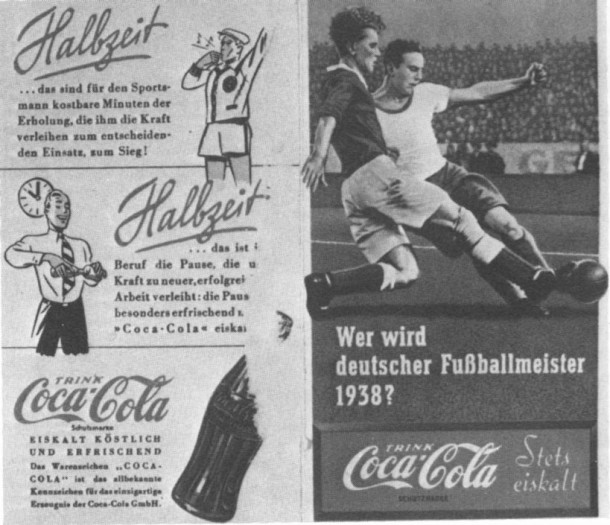 Coca-Cola football Nazi Germany 1938