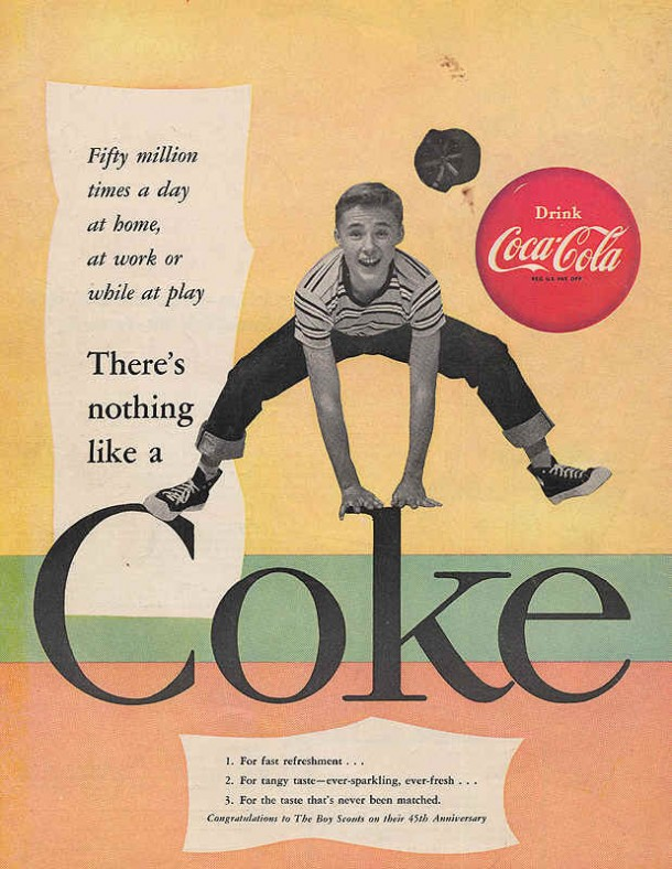 Coca-Cola for fast refreshment 1955