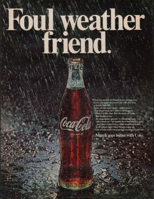 Coca-Cola foul weather friend 1969