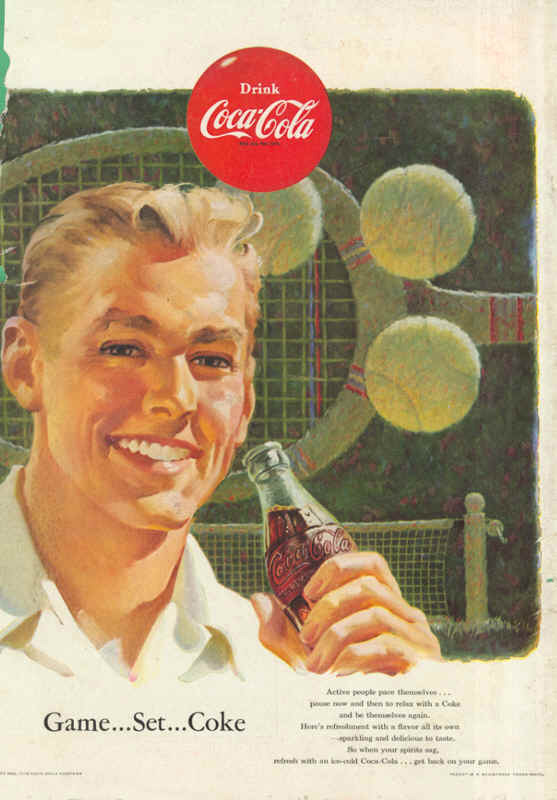 Game... Set... Coke 1953