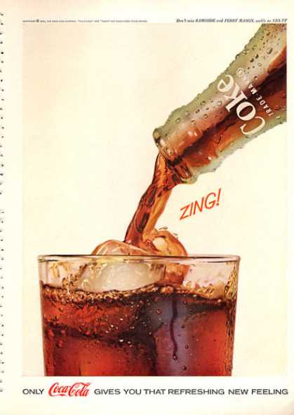 Only Coca-Cola gives you that refreshing new feeling 1962