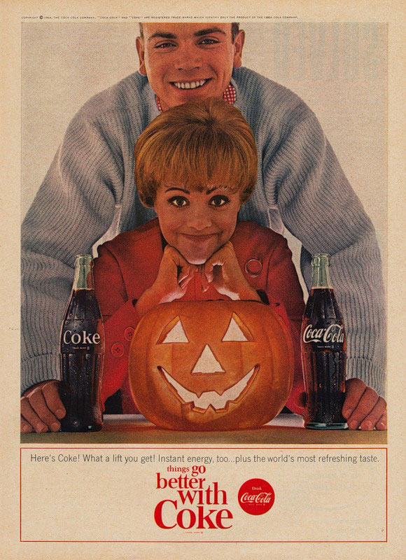 Coca-Cola Halloween poster from 1964