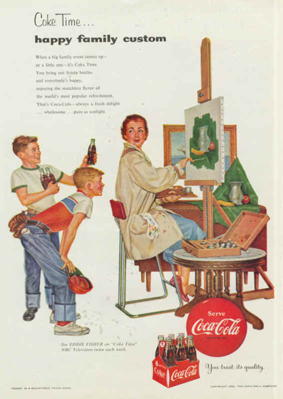 Coke time... happy family custom 1954