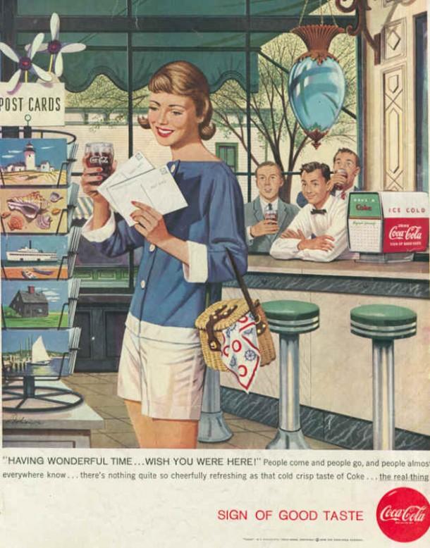 Having wonderful time... wish you where here! 1958