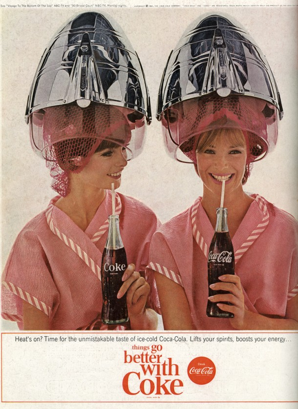 Time for the unmistakable taste of ice-cold Coca-Cola 1960s