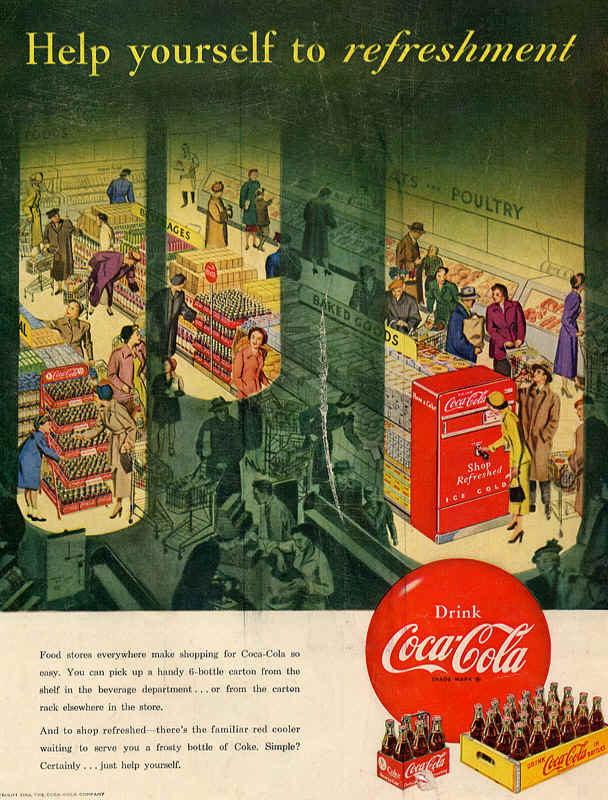 Coca-Cola help yourself to refreshment 1950