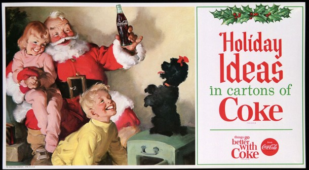Holidays ideas in cartons of coke 1964