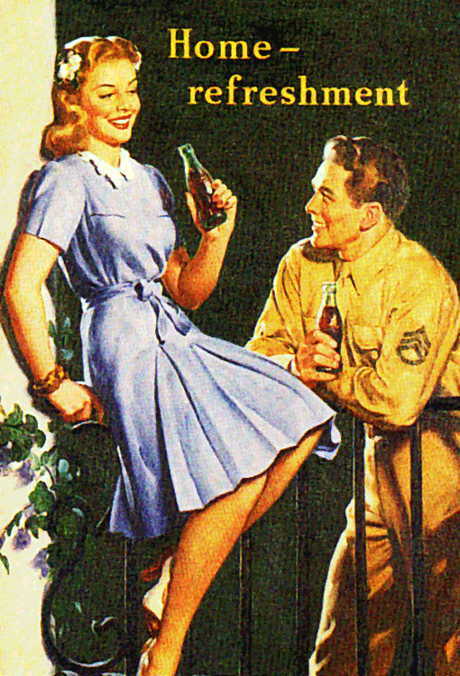 """Home refreshment"" 1944 by Gil Elvgren"
