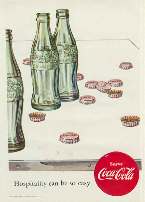 Coca-Cola hospitality can be so easy 1952