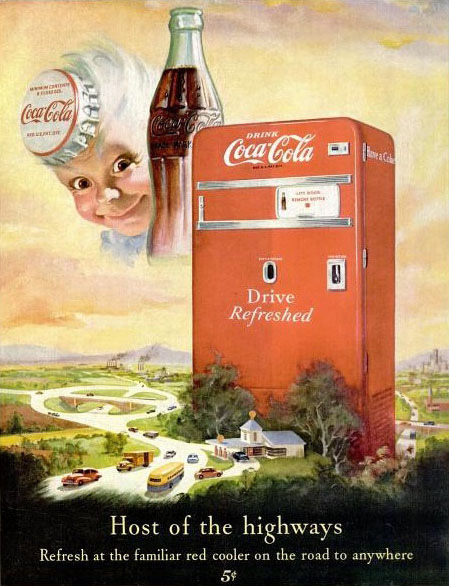 Coca-Cola host of the highways 1950
