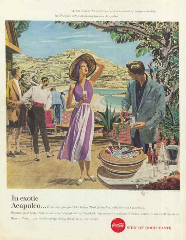 Coca-Cola in exotic Acapulco 1957