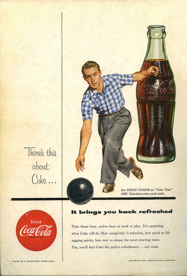 Coca-Cola It brings you back refreshed 1954