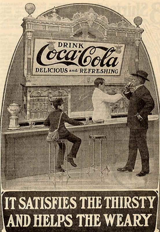 It satisfies the thirsty and helps the weary 1905