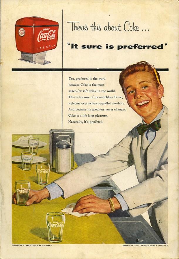 Coca-Cola It sure is preferred 1954