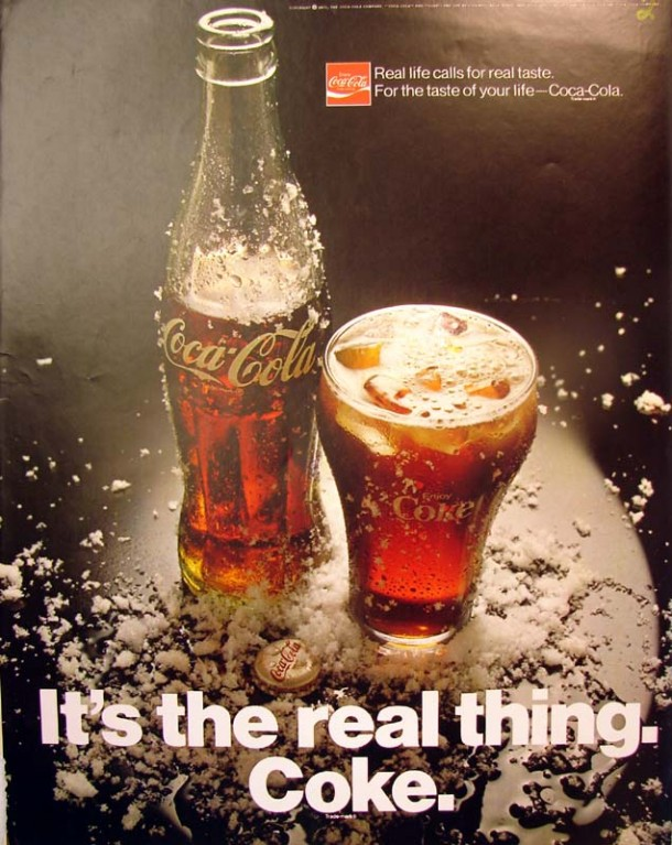 It's the real thing, Coke