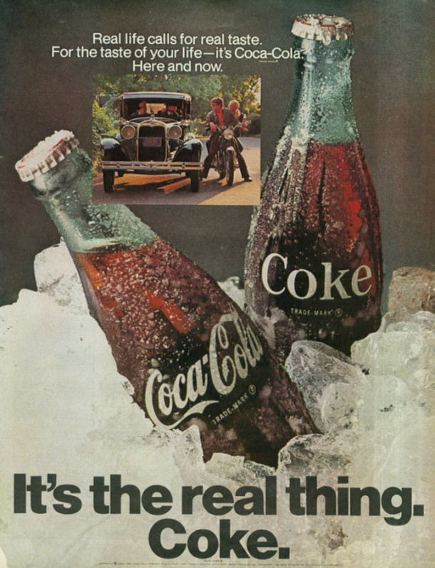 It's the real thing, Coke #1 1969