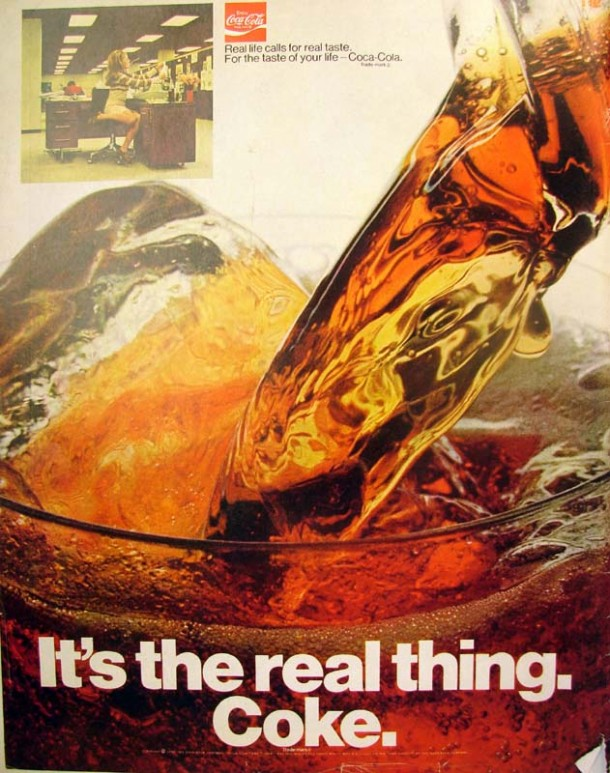 It's the real thing, Coke #1 1970