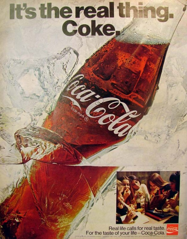 It's the real thing, Coke #3 1970