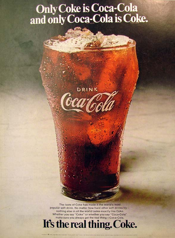 It's the real thing, Coke #7 1970