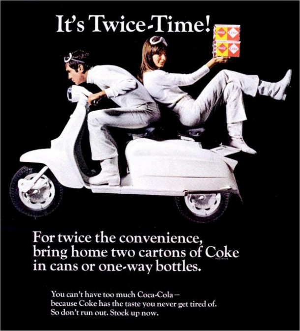 "Black magazine ad ""It's twice-time!"" 1960s"
