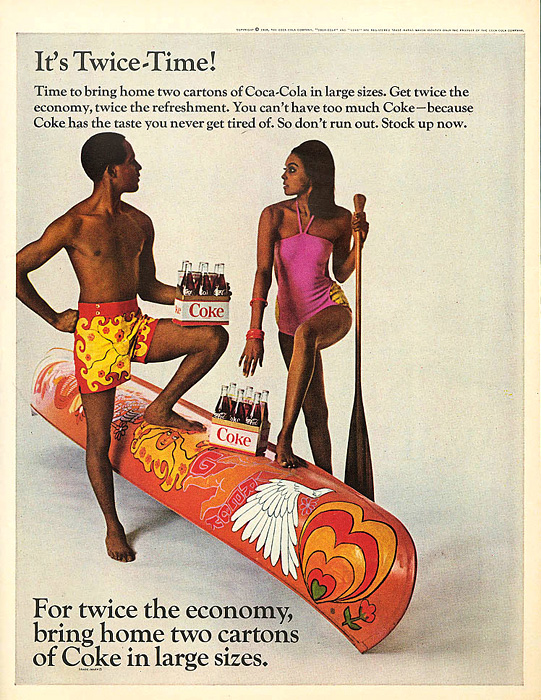 For twice the economy, bring home two cartons of Coke in large sizes 1968