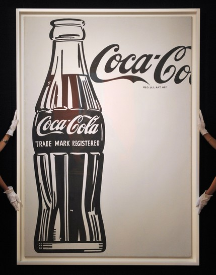 Large Coca Cola at the Sotheby's art auction