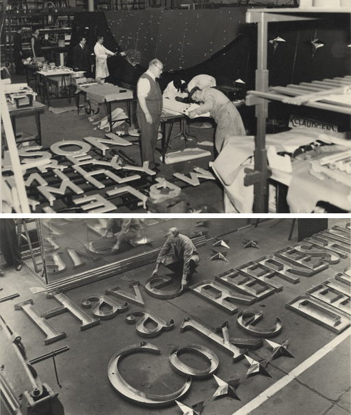 Making letters, 1954