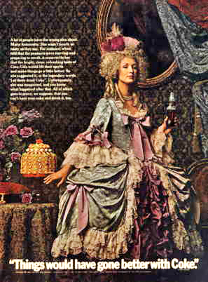 Coca-Cola Marie Antoinette 1969