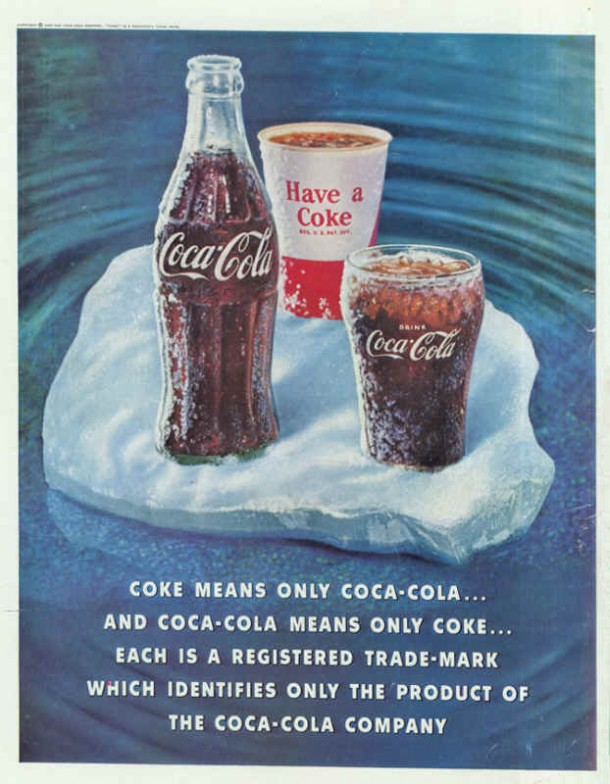 Coke means only Coca-Cola 1960