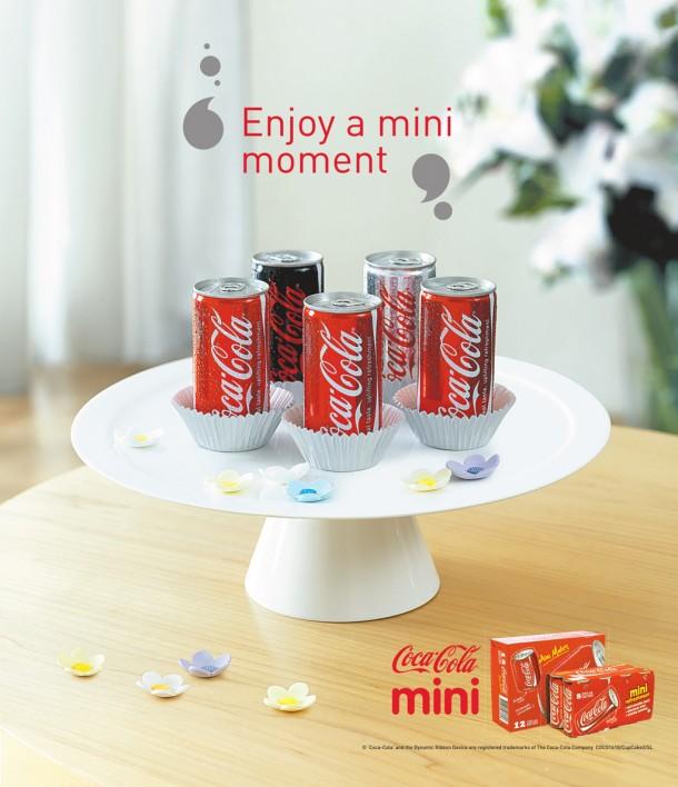 """Coca-Cola mini cans """"Enjoy a mini moment"""", 2009"""