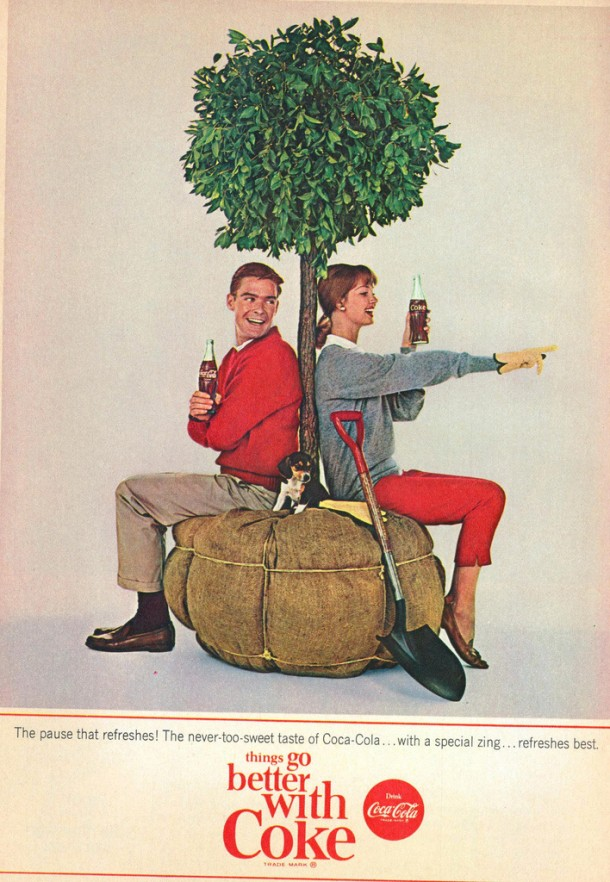 The never too sweet taste of Coca-Cola 1964