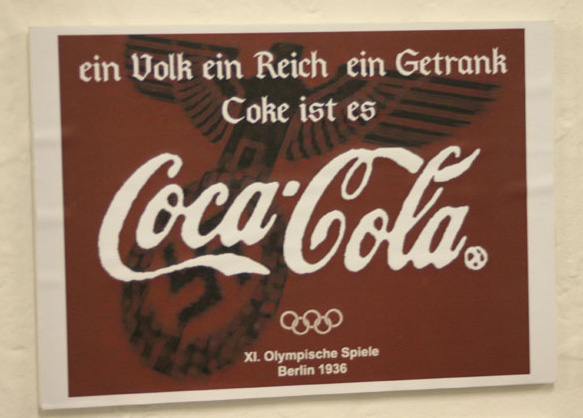 Ein Volk, Ein Reich, Ein Getrank (One People, One Nation, One Drink) Olympic Games in Berlin 1936