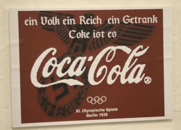 Ein Volk, Ein Reich, Ein Getrank (One People, One Nation, One Drink) Olympic Games in Berlin 1936