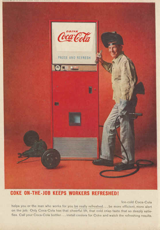 Coke on-the-job keeps workers refreshed! 1959